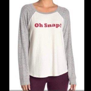 Free Press Oh Snap Baseball Long Sleeve T-shirt Sm